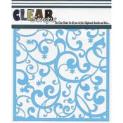"Twinkle Flourish - Clear Scraps Stencils 12""X12"""