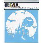 "Haunted House - Clear Scraps Stencils 12""X12"""
