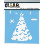 "Snow Tree - Clear Scraps Stencils 12""X12"""