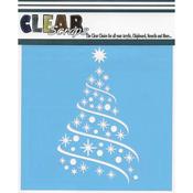 """Ribbon Tree - Clear Scraps Stencils 12""""X12"""""""