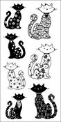 "Cats - Inkadinkado Clear Stamps 4""X8"""