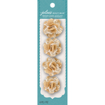 Natural W/Cream Lace - Jolee's Boutique Burlap Mini Flowers 4/Pkg