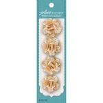 Natural W/Cream Lace - Jolee's Boutique Burlap Mini Flowers 4/Pkg