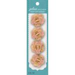 Natural W/Rose Lace - Jolee's Boutique Burlap Mini Flowers 4/Pkg