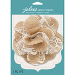 Natural W/Lace - Jolee's Boutique Burlap Large Flower