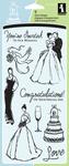 """Wedding - Inkadinkado Clear Stamps 4""""X8"""""""