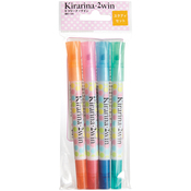 Study - Kirarina 2win Water-Based Markers 4/Pkg