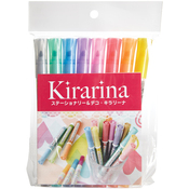 Kirarina 2win Water-Based Assorted Markers 8/Pkg