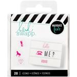 Pink Icons - Heidi Swapp Lightbox Inserts 20/Pkg