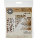 Mixed Media #3 - Sizzix Thinlits Dies 3/Pkg By Tim Holtz