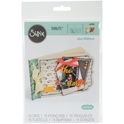 Essential Mini Album - Sizzix Thinlits Dies 15/Pkg