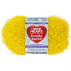 Lemon - Red Heart Scrubby Sparkle Yarn Red Heart-Scrubby Sparkle Yarn. A uniquely textured yarn with a sparkle effect great for making pan scrubbies but also great for making crafty items. Weight category: 4. Content: 100% polyester. Putup: 3oz/85g, 174yds/159m. Gauge: 18s x 24r = 4in/10cm on size US8/5mm knitting needles. Crochet: 14sc x 13r = 4in/10cm with size I-9/5.5mm crochet hook. Dyelotted: we try but are not always able to match dyelots. Care: machine was cold gently cycle, tumble dry, do not bleach or iron, dry clean with P solvents only. Comes in a variety of colors. Each sold separately. Imported.