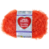 Orange - Red Heart Scrubby Sparkle Yarn Red Heart-Scrubby Sparkle Yarn. A uniquely textured yarn with a sparkle effect great for making pan scrubbies but also great for making crafty items. Weight category: 4. Content: 100% polyester. Putup: 3oz/85g, 174yds/159m. Gauge: 18s x 24r = 4in/10cm on size US8/5mm knitting needles. Crochet: 14sc x 13r = 4in/10cm with size I-9/5.5mm crochet hook. Dyelotted: we try but are not always able to match dyelots. Care: machine was cold gently cycle, tumble dry, do not bleach or iron, dry clean with P solvents only. Comes in a variety of colors. Each sold separately. Imported.
