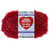 Strawberry - Red Heart Scrubby Sparkle Yarn Red Heart-Scrubby Sparkle Yarn. A uniquely textured yarn with a sparkle effect great for making pan scrubbies but also great for making crafty items. Weight category: 4. Content: 100% polyester. Putup: 3oz/85g, 174yds/159m. Gauge: 18s x 24r = 4in/10cm on size US8/5mm knitting needles. Crochet: 14sc x 13r = 4in/10cm with size I-9/5.5mm crochet hook. Dyelotted: we try but are not always able to match dyelots. Care: machine was cold gently cycle, tumble dry, do not bleach or iron, dry clean with P solvents only. Comes in a variety of colors. Each sold separately. Imported.