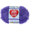 Grape - Red Heart Scrubby Sparkle Yarn Red Heart-Scrubby Sparkle Yarn. A uniquely textured yarn with a sparkle effect great for making pan scrubbies but also great for making crafty items. Weight category: 4. Content: 100% polyester. Putup: 3oz/85g, 174yds/159m. Gauge: 18s x 24r = 4in/10cm on size US8/5mm knitting needles. Crochet: 14sc x 13r = 4in/10cm with size I-9/5.5mm crochet hook. Dyelotted: we try but are not always able to match dyelots. Care: machine was cold gently cycle, tumble dry, do not bleach or iron, dry clean with P solvents only. Comes in a variety of colors. Each sold separately. Imported.