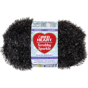 Licorice - Red Heart Scrubby Sparkle Yarn