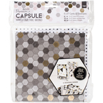 "Papermania Geometric Mono Cards W/Envelopes 6""X6"""