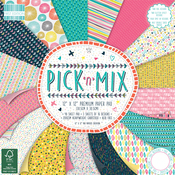 "Pick N Mix, 16 Designs/3 Each - First Edition Premium Paper Pad 12""X12"" 48/Pkg"