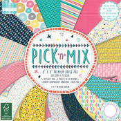 "Pick N Mix, 16 Designs/3 Each - First Edition Premium Paper Pad 8""X8"" 48/Pkg"