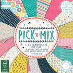 "Pick N Mix, 16 Designs/4 Each - First Edition Premium Paper Pad 6""X6"" 64/Pkg"