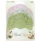3 Colors/10 Each - Dovecraft Floral Muse Paper Lace Doilies