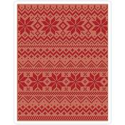 Holiday Knit #2 Texture Fades A2 Embossing Folder - Tim Holtz