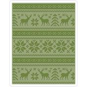 Holiday Knit Texture Fades A2 Embossing Folder - Tim Holtz