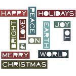 Holiday Words #2 Thinlits Dies 14/Pkg - Tim Holtz