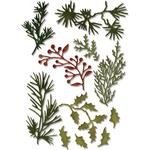 Mini Holiday Greens Thinlits Dies 11/Pkg - Tim Holtz