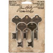Metal Word Keys, Nickel, Brass & Copper - Tim Holtz