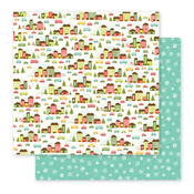 Holiday Village Paper - Holly Jolly - Pebbles