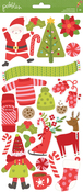 Holly Jolly Carstock Stickers - Pebbles