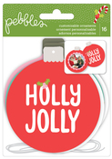 Holly Jolly Cardstock Ornaments - Pebbles