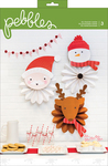 Holly Jolly Character Rosettes - Pebbles