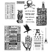 Mini Halloween #5 Tim Holtz Cling Stamps
