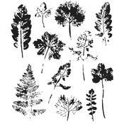 Leaf Prints Tim Holtz Cling Stamps