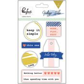 Indigo Hills Rubber Charm Stickers - Pinkfresh