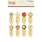 Classic Christmas Epoxy Metal Clips - Simple Stories