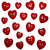 Red Hearts - Dress It Up Holiday Embellishments