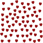 Tiny Red Hearts - Dress It Up Holiday Embellishments