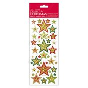 Christmas Stars Foiled & Embossed Stickers - Docrafts