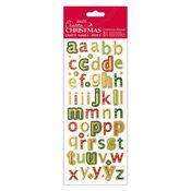 Christmas Alphas Lower Case Foiled & Embossed Stickers - Docrafts