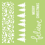 Christmas Borders 12x12 Template - KaiserCraft