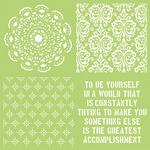 Be Yourself 12x12 Template - KaiserCraft