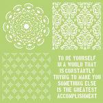 Be Yourself 12x12 Template - KaiserCraft