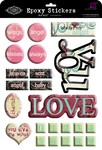 Love You Epoxy Stickers - Prima