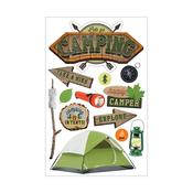 Camping Paper House 3D Stickers