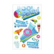 Pool Party Paper House 3D Stickers