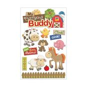 Barnyard Buddy Paper House 3D Stickers