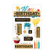 Happy Birthday 2 Paper House 3D Stickers